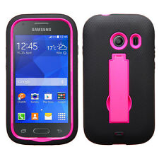 For Straight Talk Samsung Galaxy ACE IMPACT Rubber Case Kickstand + Screen Guard