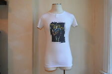 DOLCE & GABBANA WHITE SOFT THIN COTTON FREDDIE MERCURY PRINT T SHIRT S 50 L
