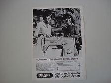 advertising Pubblicità 1968 MACCHINA PER CUCIRE PFAFF 260