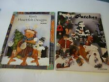 2 Decorative painting books-Patches Volume 4  & Kim's Heartfelt Designs