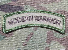 MODERN WARRIOR ROCKER TAB US ARMY TACTICAL MILITARY MORALE MULTICAM VELCRO PATCH