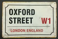 Oxford Street London England Vintage Retro Metal Sign Home Garage Pub Studio