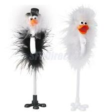 Bride and Groom Emu Ostrich Feather Wedding Guset Book Register Singing Pen