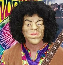 Roi de Woodstock Jimi Hendrix Fancy Dress Masque de mousse de latex + cheveux