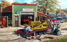 "Ken Zylla Dozer Bull Dozer Old Town Print Signed and Numbered  28"" x 18"""