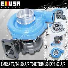 EMUSAT3/T4 Hybrid Turbo Charger .50 A/R 0.63 A/R Blue T3T4 Turbocharger