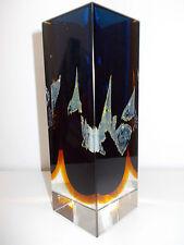 Pavel Hlava für Egermann-Exbor Glas Vase Novy Bor Czech 60s mit Signatur