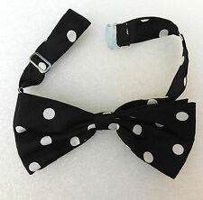 Black bow tie with white spots For men or ladies