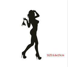 Sexy Beauty Take off Underpants Car Stickers Black Funny Flirty Silhouette Decal