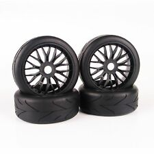 On-Road Tires Tyre Wheel Rim Set For HPI HSP Traxxas 1:8 Scale RC Buggy Car