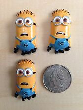 Disney Minion Stuart Inspired Flat Back Resin-Cabochon-Bow Center-Embellishment