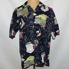 David Carey Napa Sonoma County California Wine Trail Hawaiian Aloha Shirt Large