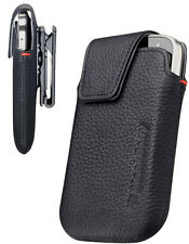 Black Leather Swivel Holster Clip Case ACC-38855-201 Blackberry 9900 9930 Bold