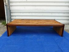 1960'S  GEOMETRIC WOOD STACKED ARCHITECTURAL PERCIVAL LAFER  COFFEE TABLE