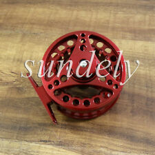 Sundely Hi-Q Red Aluminum Fly Fishing Reel 5/6 Left and Right Hand Retrieve 85mm