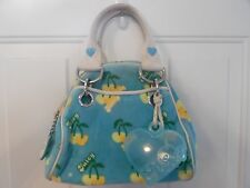 Juicy Couture Blue and Yellow Velour Handbag