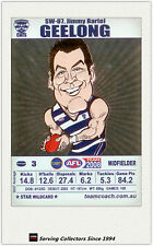 2008 AFL Teamcoach Trading Card Star Wild Card SW7 Jimmy Bartel (Geelong)