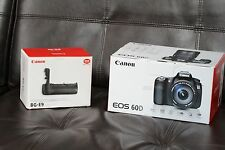 Canon EOS 60D 18.0MP  (Body Only) + Genuine Battery Canon Grip BG-E9