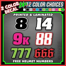 3 Dirt Bike Number Name Stickers Decals MX ATV SX BMX Go Kart Motorcycle Race