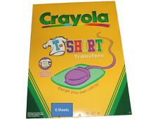 "Crayola T-Shirt Iron-On  Transfers, 6 Transfers, 8-1/2""x11""   85091"