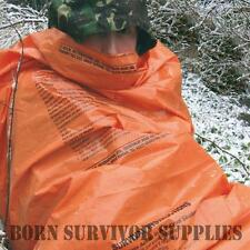 BCB Emergency NATO Orange Survival Bag Hiking Heavy Duty Sleeping Bivi Bivy