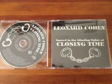 LEONARD COHEN Busted In The Blinding Lights Of Closing Time 1tk PROMO cd