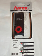 "00013242 Hama ""Sport Case"" MP3 Case for iPod nano 5G, black + strap + Foil"