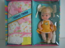 SUPER RARE VINTAGE 1970'S GOLDBERGER BABY LAYETTE & HER TRAVEL TRUNK / SUITCASE