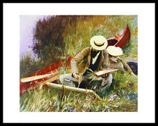 John Singer Sargent a Out-of-Doors study póster son impresiones artísticas y marco 28x36cm