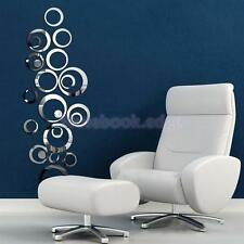 24X Circle Mirror Style Removable Decal Art Mural Wall Sticker Home Decor