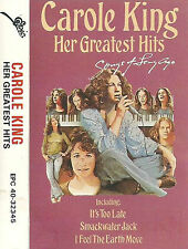 CAROLE KING HER GREATEST HITS CASSETTE ALBUM SONGS LONG AGO  Folk Rock Pop Rock