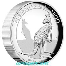 2016 Australia Kangaroo High Relief Proof 1oz Silver Coin Perth Mint COA & Box!