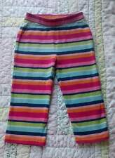 Gymboree Smart and Sweet 18-24 striped leggings pants blue pink green CUTE