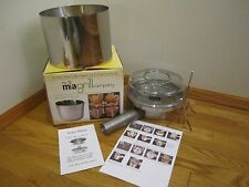 MIA INFUSION GRILL ROASTER STEAMER SMOKER COOKER w STAINLESS STEEL EXTENSION