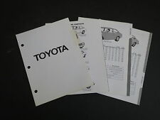 1971 - 1975 TOYOTA COROLLA CELICA GT ST DEALER ALBUM REFERENCE SPEC SHEETS SET
