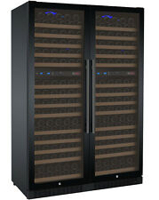Allavino 344 Bottle Built-In Wine Cooler Refrigerator Black Glass Door Four Zone