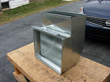 Sheet metal return air shoe, with filter rack, heating cooling, hvac duct 20x10