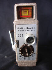 Old Vtg Antique Collectible Bell & Howell Sun Dial 220 10mm Movie Camera