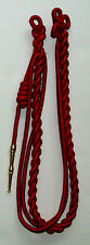 Shoulder Cord Citation With Brass Tip - Red