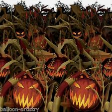 Halloween CREEPY PUMPKIN Patch Party Scene Setter Room Roll - Scary Crops Farm