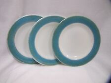 Vintage Pyrex Plates Aqua Milk Glass Side Plates Set of 3