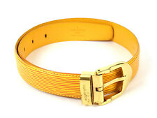 Auth [Mint Cond.] LOUIS VUITTON Ceinture Classic Belt Epi Yellow R10040(Used)