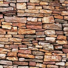Landscape Medley Brown Stone Wall Stones Rocks Cotton Fabric Fat Quarter