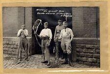 Cpa Carte Photo Landau 1920 Garde d'écurie du 5e RD Dragons de Compiègne m092