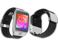 Skinomi Carb Fiber Silver Skin+Screen Protector For Samsung Galaxy Gear 2 Watch