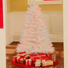 New 4 Ft. Pre-Lit Multi Color White Indiana Spruce Artificial Christmas Tree