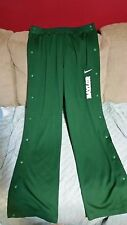 Nike Tear Away Snap Leg Athletic Basketball Pants BAYLOR Green -Large
