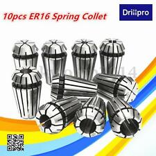 10Pzs 1-10mm Pinza Porta Fresas Tipo ER16 Fresadora CNC Collet Torno Grabado