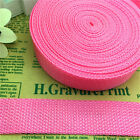 5 Yards 1Inch (25mm)  Width Length Nylon Webbing Strapping Pick Pink MG06