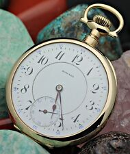 C. 1913 E. HOWARD WATCH Co. Series 10 21j 16s 14K Solid Gold R.R. Pocket Watch